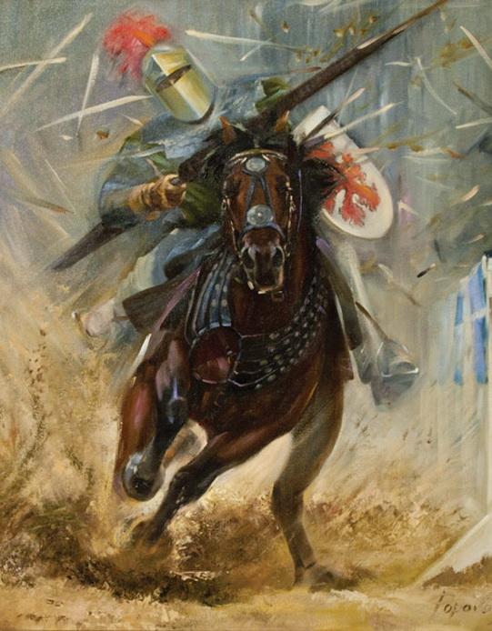 """Оригинал - Схема вышивки  """"Доблестные рыцари """" - Схемы автора  """"chizh """" - Вышивка крестом."""