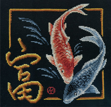 В состав набора входит: канва для вышивания, мулине Гамма (18 цветов), игла, ч/б схема, инструкция.