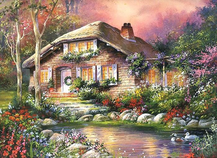 """Оригинал схемы вышивки  """"дом мечты """". дом мечты, дома, оригинал."""