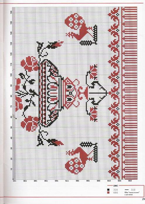 Схема вышивки крестом для рушника на свадьбу 91