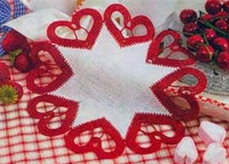 рукоделие, вязание, вязание крючком, салфетки, подарки своими руками, ко дню святого валентина, день влюбленных...