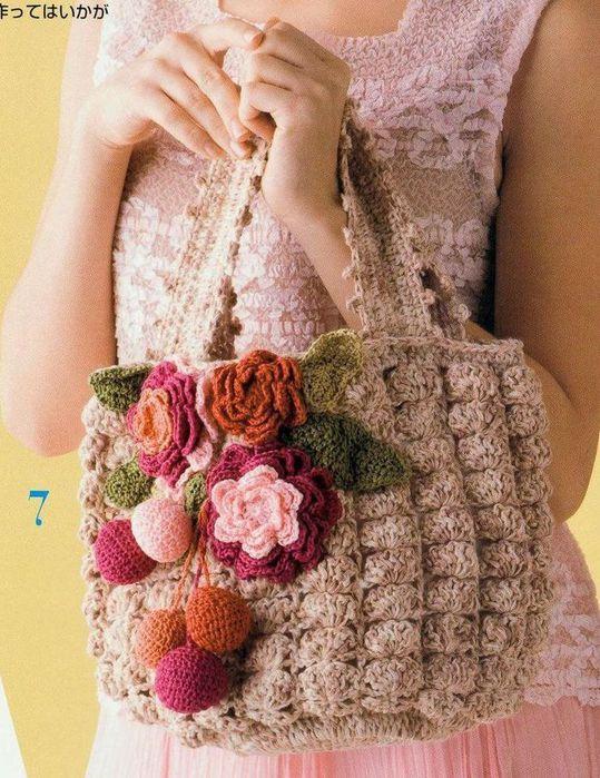 Категория записи:Красота и мода. вязание крючком.  Теги. сумки.