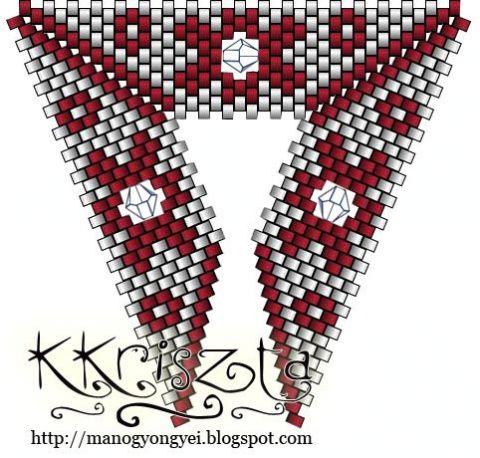 Для тех, кто увлечен бисероплетением, предлагаю эти схемы плетения треугольничков из бисера -небольшая коллекция.