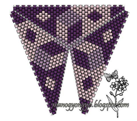 Треугольник из бисера 3.