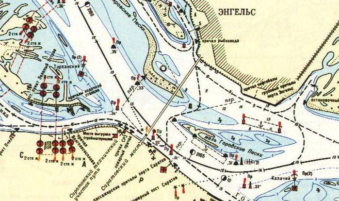Лоцманская карта М1:10 000,
