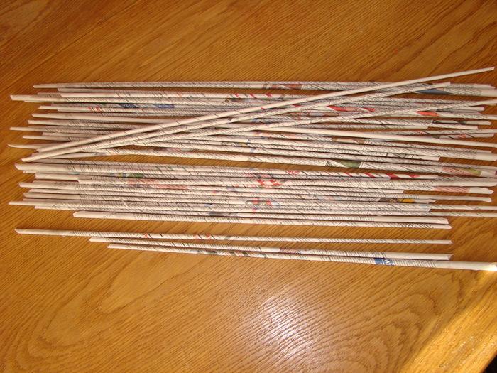 Трубочки из газеты своими руками ютуб