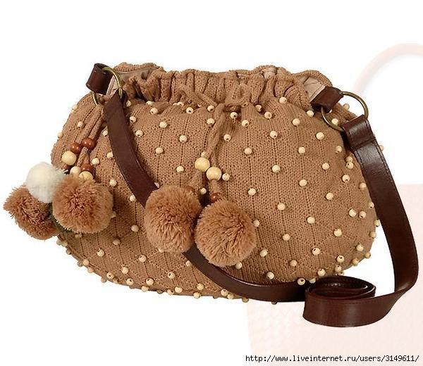 вязание сумок спицами со схемой - Сумки.