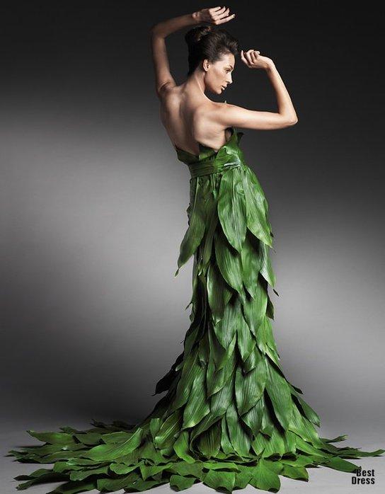 Верх оригинальности - свадебное платье из цветочных лепестков.  Что может быть обворожительней и волшебней...