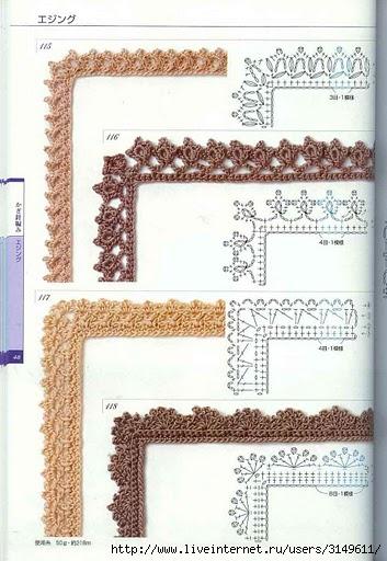 Есть много способов украсить края ткани кружевом, связанным крючком.  Нужно только очень аккуратно выполнить...