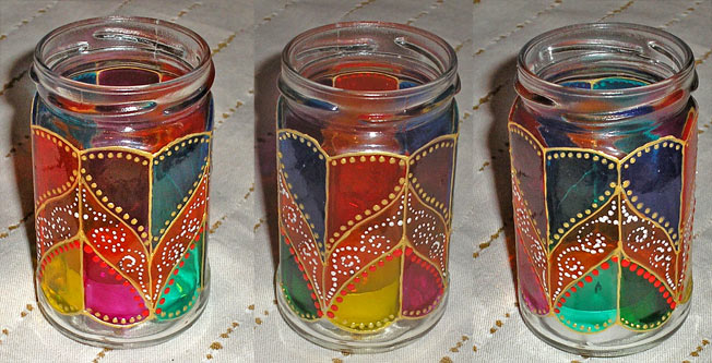 Как сделать стаканы из стеклянных банок