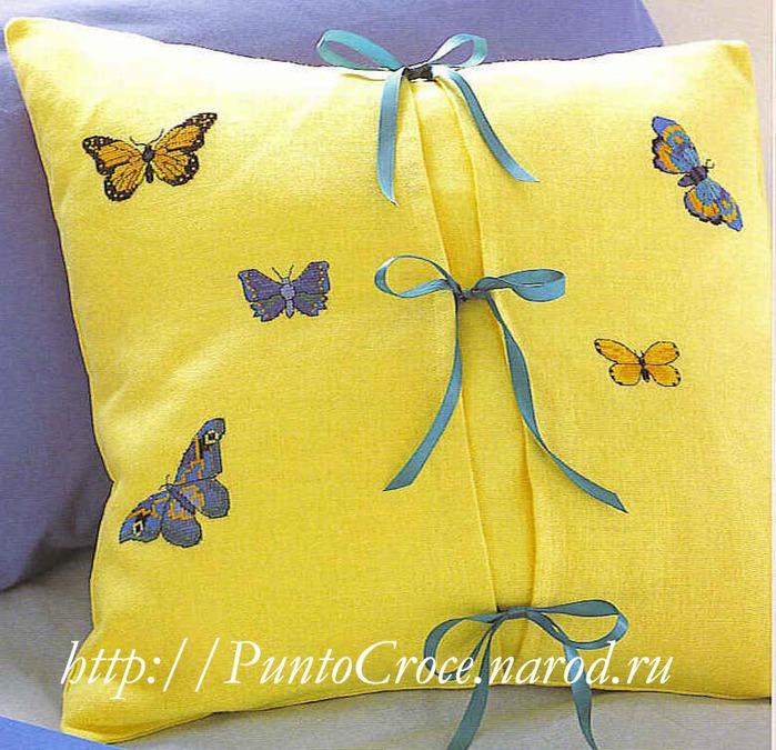 Cashel linen 28 лимонного цвета, мулине DMC.  Вышивка: Вышивайте мотив...