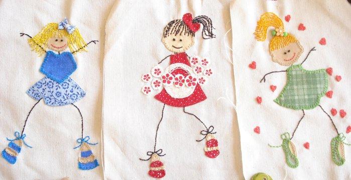 Детские аппликаций своими руками из ткани