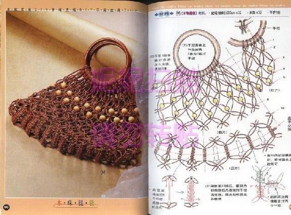 Плетение сумок макраме схемы