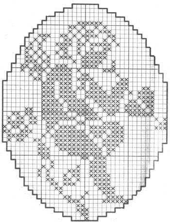 монохромная вышивка крестом