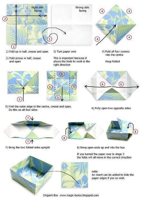 Сложите лист бумаги пополам, сделайте сгиб и откройте. (на картинке обозначено пунктиром) Переверните.