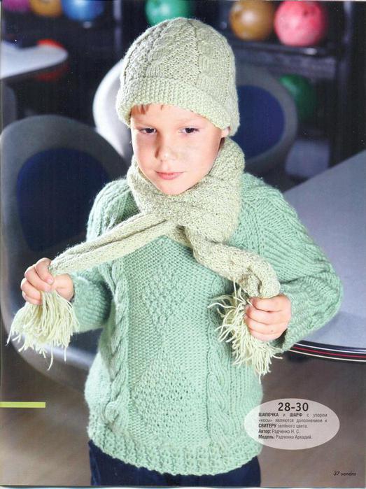 Вязание спицами для детей шапочки со схемами.