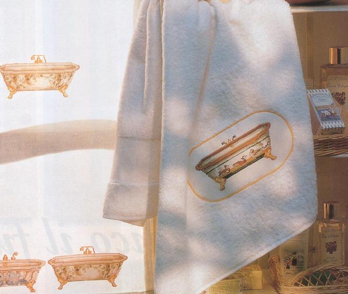 Схемки вышивки для ванной.  Дальше.