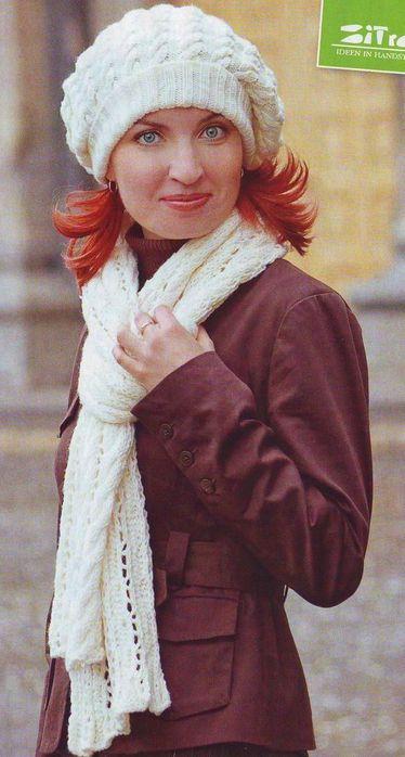 Этот модный шарф-воротник, связанный спицами, согреет в холодную шарфы спицами вязание шарфов спицами схемы шарф...