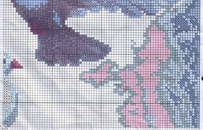 Два голубя вышивка крестом 66