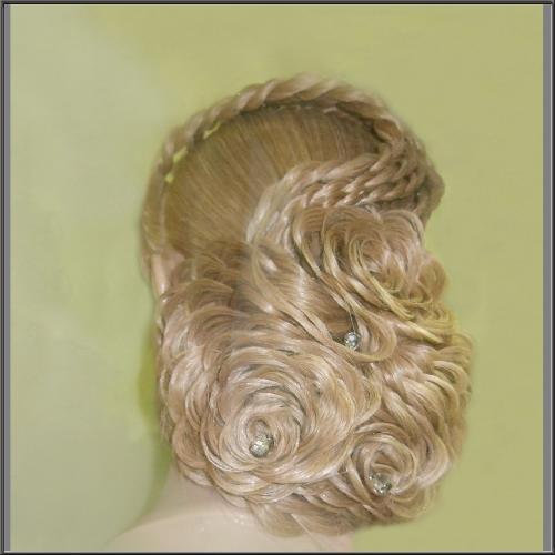 Розочка из волос своими руками
