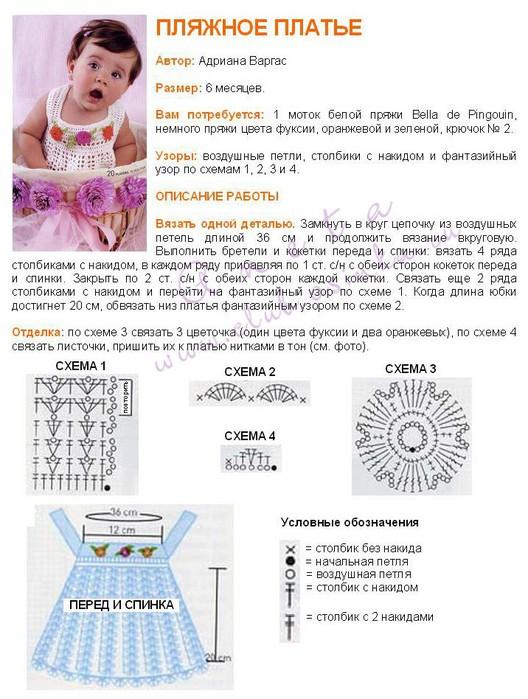 Платья Детские Вязаные Авторские