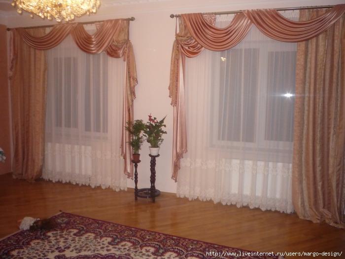 Зал с 3 окнами дизайн