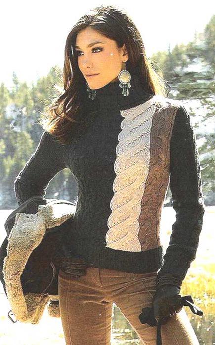 вязать пуловер. Схемы и