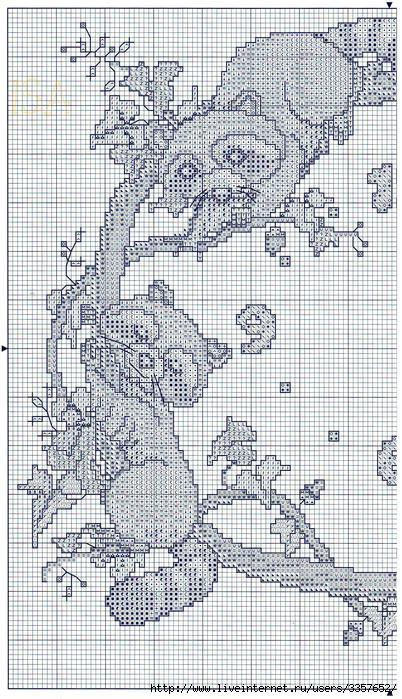 Схема для вышивки енот