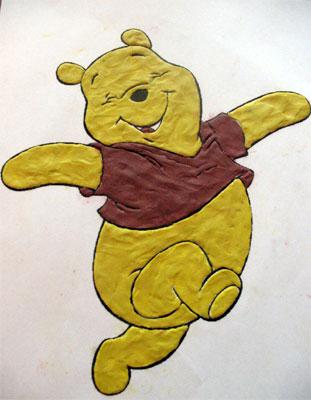 ... крупу.  Курточка медвежонка будет из гречневой крупы, а он сам из…