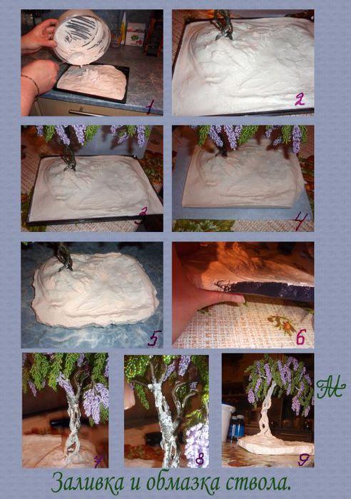 Как сделать дерево из гипса мастер класс