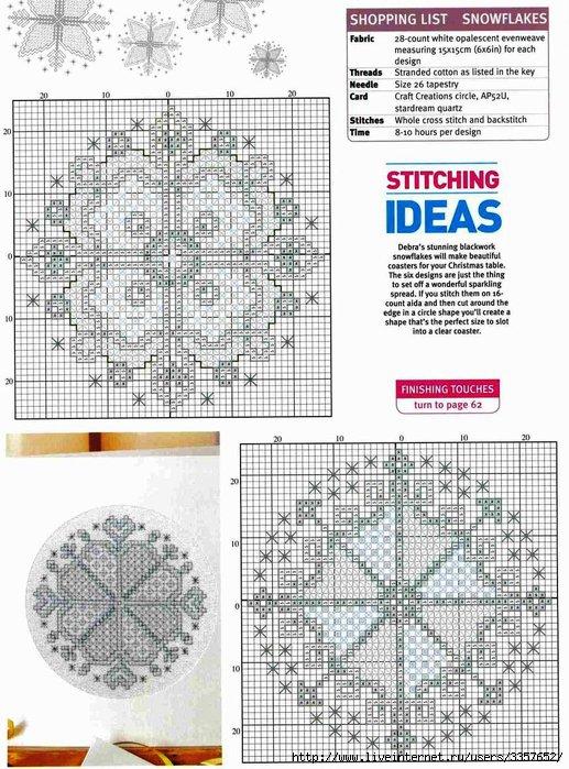 Бискорню.  Схемы для вышивки с примерами работ.  Часть 10. копия.