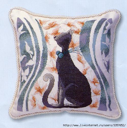 вышивки крестиком кошки схема