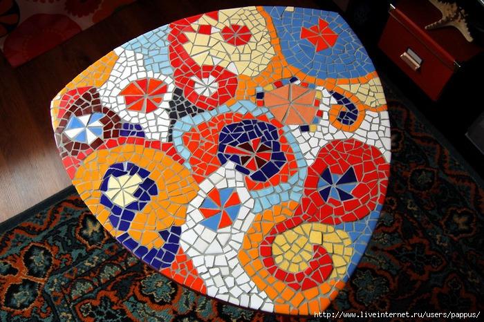 Мозаика на столе своими руками фото