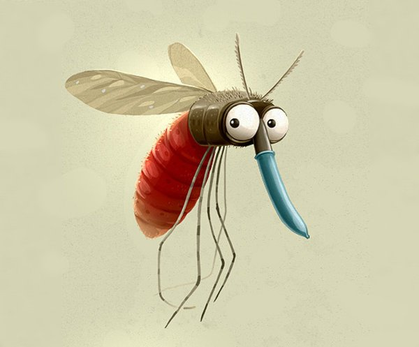 Mosquito l 500x413. 50+ Dazzling Animal Illustrations and