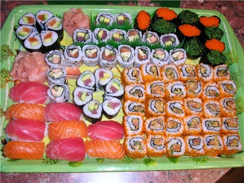Виды суши и роллов фото
