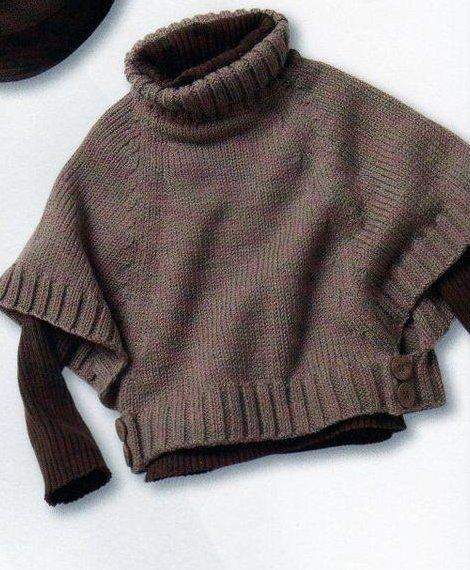 Пончо для ребенка спицами схема вязания .  Очень мне приглянулась эта.