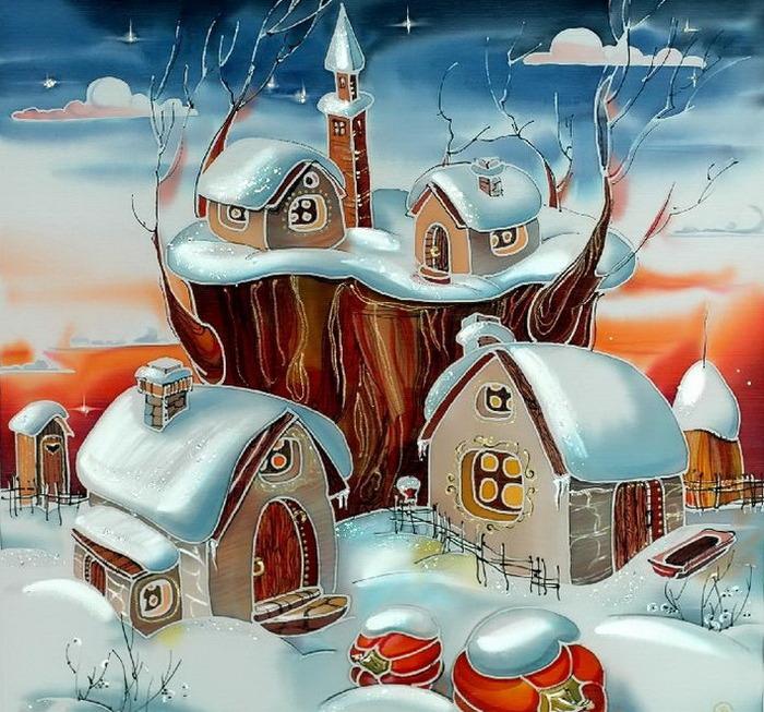 """АС-038 Схема для вышивки бисером  """"Волшебная зима """" ."""