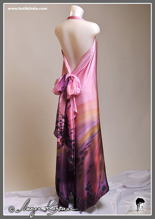 ммм.  Вечерние платья,роспись натурального шелка.