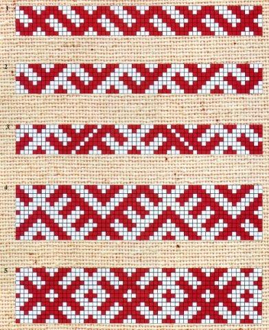153Орнамент для вышивки на поясе