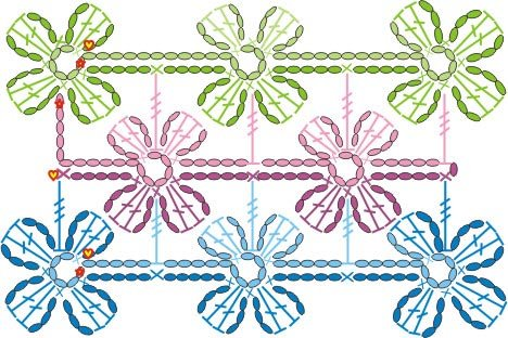 Схемы узоров вязания крючком, красивые узоры для вязания беретов.