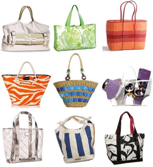 Модные пляжные сумки, лето 2009.