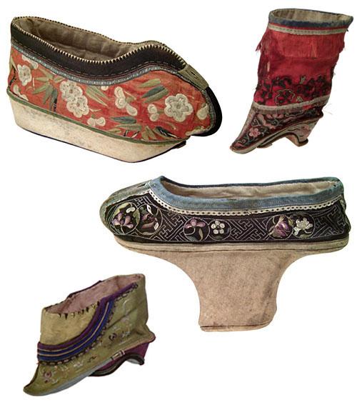 Экспонаты музея обуви в городе Роман-сюр-Изер. Персия - 18 век.