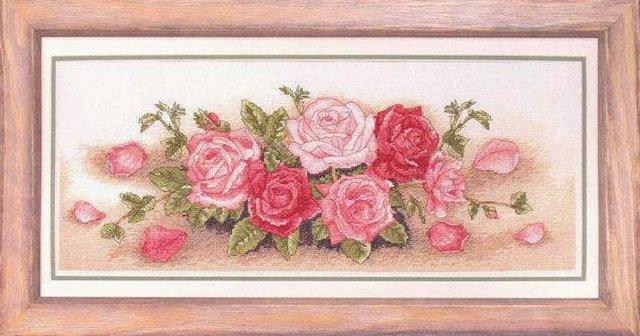 """Схема вышивки  """"Роза в конверте """""""