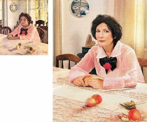 сочинения по русскому языку по картине серова девочка с персиками