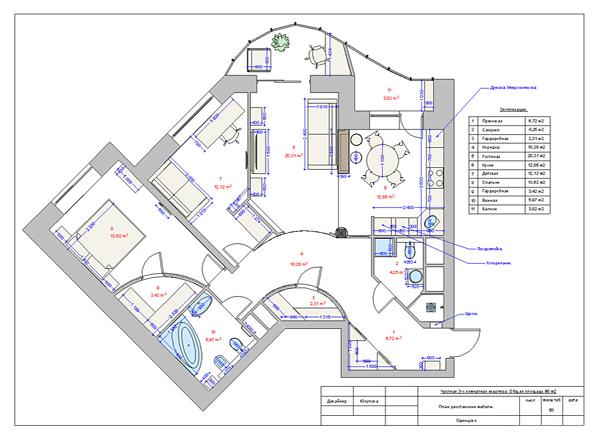 Виртуальный тур: кружева арт-нуво в мегаполисе - проект 3х комнатной квартиры