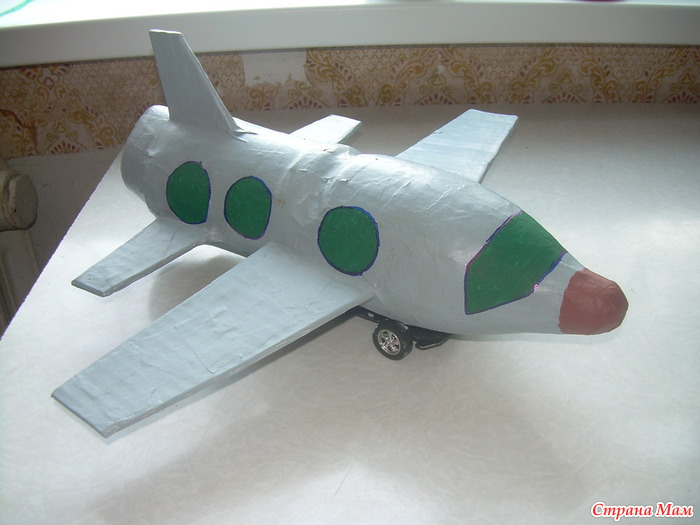 Как сделать поделку самолет