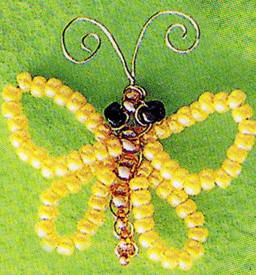 схемы вышивки бисером бабочка