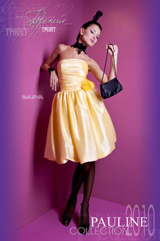 Силуэт: вечернее короткое платье в стиле ретро.