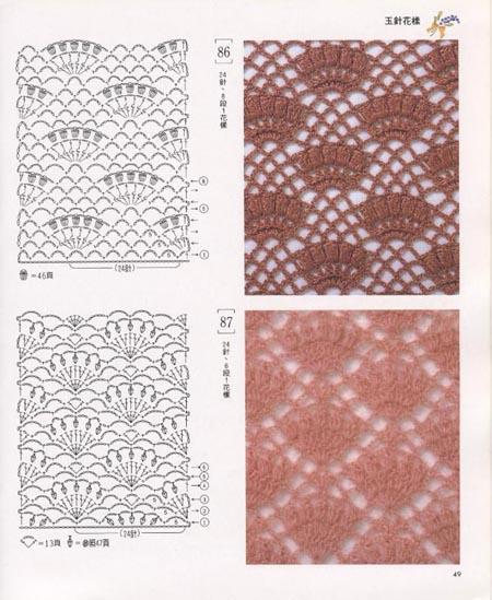 Узоры и схемы вязания спицами