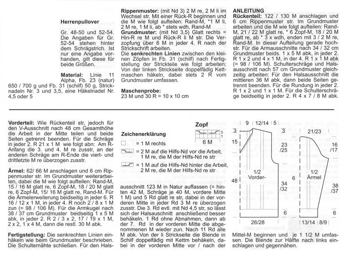 вязание спицами с описанием и схемами мужской полувер.